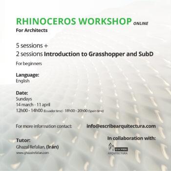 RHINOCEROS 7.0 WORKSHOP